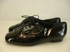 Womens 10 WW Mark Lemp Classics Jake Oxfords Shoes Black Patent Leather Wingtip