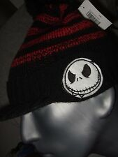 Adult The Nightmare Before Christmas Jack Face Disney Visor Pom Beanie Hat Cap