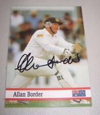 Allan Border (Australia) signed Test Match  Cricket Card + COA