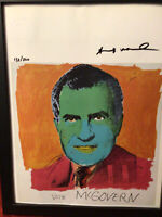 Andy Warhol 1986 Original Lithograph- Hand Signed By Warhol with COA, New Frame