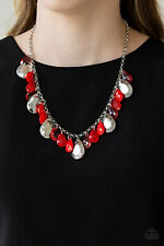 Hurricane Season Red Necklace By: Paparazzi