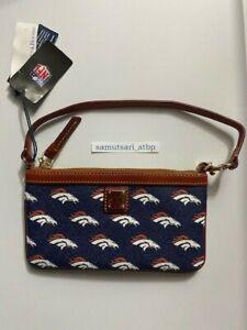 NWT Dooney & Bourke NFL Denver Broncos Large Wristlet