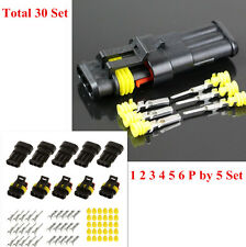 30Set 1/2/3/4/5/6 Pins 1.5mm Terminal Electrical Wire Connector Plug Kit SUV Car