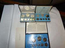 Franklin Mint - Belize 1974 & 1976 Proof Set, 1977 Uncirculated Specimen Sets