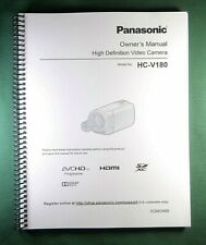 Panasonic HC-V180 Instruction Manual: Full Color & 140 Pages!