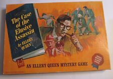 The Case of the Elusive Assassin 1967 Ideal Board Game Complete