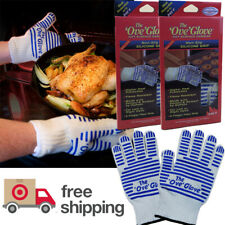 2 x Ove Glove Oven Grill Gloves washable Oven Mitts up To 540 Deg(one pair) Gift
