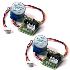 2 pcs 28BYJ-48 DC 5V Stepper Motor +ULN2003 Driver Test Module Board for Arduino