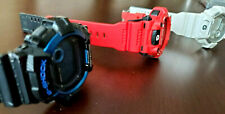 Lot of 3 G-Shock Watches Black Red White G-8900A, G-7900A, G-8900A Shock Resist