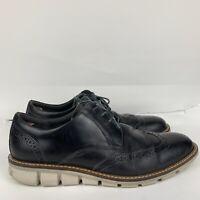 Ecco Jeremy Magnet Derby Leather Shoes Black Men's Size: EU 45/ US 11