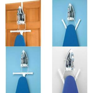 Ironing Board Holder Hanger, Over The Door Iron Caddy Wall Mount Small Apartment