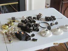 Vintage Lot Electrical Outlets Switches Plugs Sockets Porcelain light fixture +