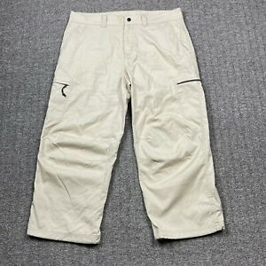Mountain Hardwear Mens Pants Outdoors Hiking Tan Nylon/Cotton Size 36 Regular