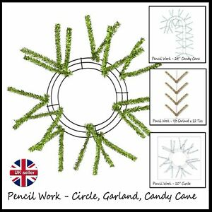 Pencil Work - Wreath frame - Circle, Garland & Wire Frames & UITC Boards - UK