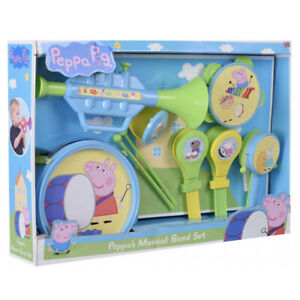 Peppa Pig Musical Band Children's Instrument Set with Trumpet Drum & More