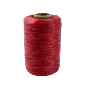 Single Spool Artificial Red Deer Sinew Waxed Beading Craft Poly Thread Wax Sinue