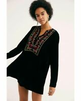 NEW Free People Always Forever Velvet Mini Dress size Extra Small MSRP: $128