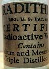 "Vintage Medicine Hand Crafted Bottle, Radithor (Radio Active Water) 4"""