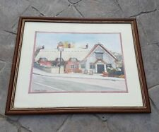 More details for isle of wight the crab public house pub watercolour picture by jack moore