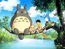 ANIME MY NEIGHBOR TOTORO ANIMATION STUDIO GHIBLI FISHING POSTER PRINT LV10002