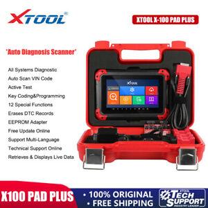 XTOOL X100 PAD PLUS Car OBD2 Diagnostic Scanner Auto IMMO Key Programming+EEPROM