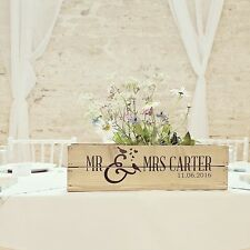 Personalised Rustic Wedding Table Centrepiece Wooden Wedding Crate Apple Crate