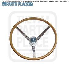 1965-66 Pontiac GTO LeMans Factory OEM Wood Steering Wheel Kit Complete