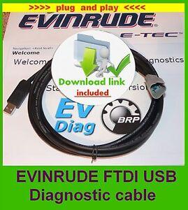 USB EVINRUDE E-TEC  ETEC diagnostic cable SET, with USB cable (FICHT, Johnson )