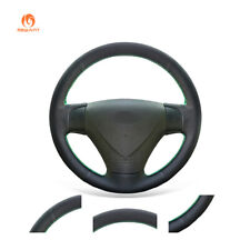 DIY Black PU Leather Steering Wheel Cover for Kia Rio Rio5 Hyundai Accent Getz