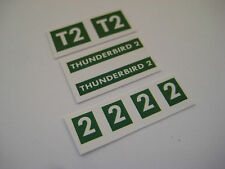 Dinky 101 - Thunderbird 2  [ green ] Stickers - B2G1F