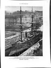 Navire l'Armide frégate cuirassé à vapeur de 1867 / Le Louis XIV vaisseau 1959