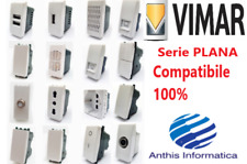 VIMAR PLANA COMPATIBILE Prese, Interruttori, Pulsanti, Deviatori, USB
