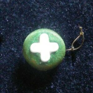 Antique Milk Glass Fabric Back Button.