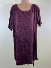 Neues AngebotBNWOT nächsten Burgund Leaf Print OVERSIZE LOOSE FIT T-Shirt Tunika Kleid Größe 14