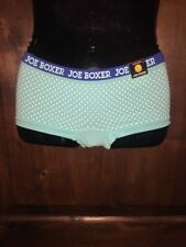 Joe Boxer Aqua Blue White Polka Dot  Boyshort Panty Sissy Knickers Small Medium