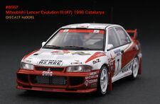 1:43 HPI DIECAST #8557 Mitsubishi Lancer Evolution III (#7) 1996 Catalunya