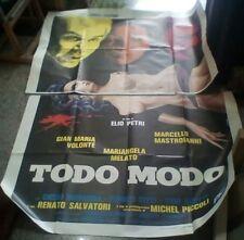TODO MODO manifesto 4F originale 1976 MASTROIANNI MELATO VOLONTÉ