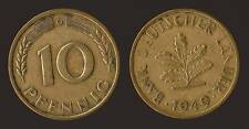 GERMANIA GERMANY 10 PFENNIG 1949 G