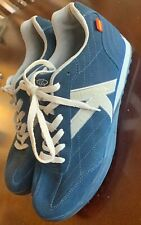 Vintage Kelme K-09 Indoor Football Soccer Shoes Sz 11 Euro 45 Blue Suede Rare