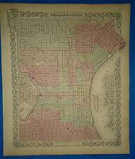 Antique 1862 Colton Atlas Map ~ PHILADELPHIA ~ Old Original  ~ Free S&H