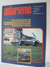 AUTOREVUE 1975-22,DATSUN 180B SSS,SHOW LONDON,JANOS ODOR,THE DALE,FORGHIERI MAUR