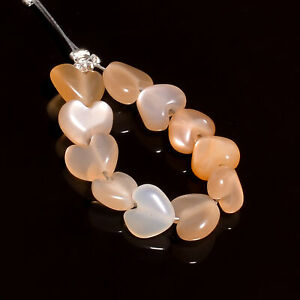 """100% Natural Sunstone Heart Shape Smooth Style Beads 6X6X4 mm Strand 2"""" NW-6280"""