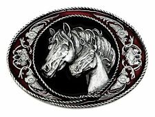 Horse Belt Buckle Horse & Foal American Western Themed Animal Authentic Siskiyou