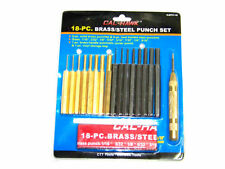 18 pc Brass and Steel Transfer Punch Set with Automatic Center Pin Punch