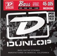 Dunlop Stainless Steel Bass Guitar Strings - Medium Gauge .045 - .105