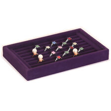 Velvet Earring Ring Jewelery Display Storage Box Tray Showcase Organizer Holder