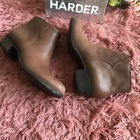 Lucky Brand Balexa Leather Ankle Boots Booties Size 8 NWOB