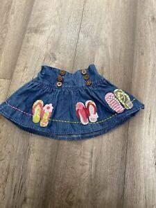 Next Baby Girl Denim  Summer Skirt 3-6 Mounts 8 Kg Weight