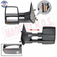 For 07-14 F150 LED Signal Puddle Light Pickup Towing Heated Power Mirrors RH+LH