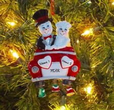 Just Married Snow Couple - First Personalized Christmas Wedding Ornament